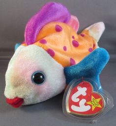 #TY Original BEANIE BABY #LIPS Swing Tag Retired 1999 #Ty