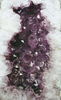 """""""Amethyst is the ultimate grounding stone, perfect for clearing out any residual negative energy in our lives. Meditating with amethyst is especially powerful for the intuitive Piscean woman. Minerals And Gemstones, Rocks And Minerals, 6 Chakra, Mineral Stone, Rocks And Gems, Stones And Crystals, Healing Crystals, Cleanse Crystals, Gem Stones"""