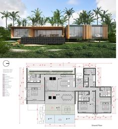 Six Senses Residences Formosa Bay, Brazil Branded Residence - 3 Bedroom Courtyard House Plans, Facade House, Beach House Floor Plans, Bel Air Mansion, Large Floor Plans, Modern Family House, Villa Plan, Architectural Floor Plans, Modern Villa Design