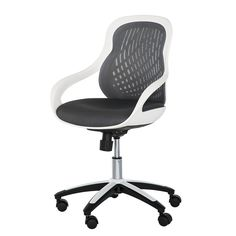 Office swivel chair Ben - shell white - backrest and seat gray
