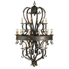 Currey and Company 9631 Colossus 24 Light Chandelier