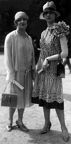 50 Fabulous Photos of Women's Street Style from 1920s // Spaarnestad Photo Collection: Life Photos, Daywear, 1926 Auteuil, France. Found on geheugenvannederland.nl