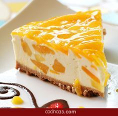 Mango Cheesecake is a beautiful, delicate dish that is perfect for parties and special occations. The Mango Cheese Cake Recipe is makde by blending the delectable fresh mangoes with crumbly cheese. The pastry for the cheese cake has a prefect crust and is Mango Desserts, Delicious Desserts, Yummy Food, Food Cakes, Cupcake Cakes, Cupcakes, Sweet Recipes, Cake Recipes, Meal Recipes