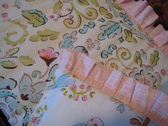Love Birds (Carousel Designs) damask, birds and pink circles