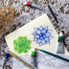 Watercolor succulent tutorial – Part 1 | Craft Gawker | Bloglovin'