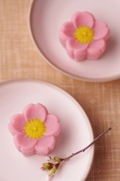 Sakura-shaped Wagashi