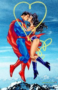 Hot Valentine -Wonder Woman - Superman by godstaff on DeviantArt