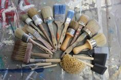 Confused on which brush to use for your next DIY Chalk Paint™ project? Check out this tutorial on how to select the right brush for your project. www.interiorstoinspire.com
