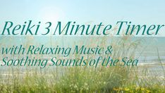 Reiki Timer - Deeply Relaxing Reiki Music with Sounds of the Sea and 3 minute Bell Timer Reiki Chakra, Chakra Meditation, Meditation Music, Mindfulness Meditation, Guided Meditation, Reiki Music, Reiki Training, Reiki Practitioner, Spirituality