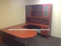 Mayline Brighton 5-piece Desk from overstock.com assembled in Washington DC by Furniture assembly Experts LLC