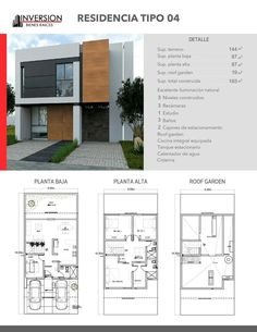 House design Plan with 3 Bedrooms - SamPhoas Plan House design Plan with 3 Bedrooms. The House has: Car Parking small garden -Living room, -Dining room, -Kitchen, Bedrooms with 2 bathrooms, Small House Design, Dream Home Design, Home Design Plans, Modern House Design, Simple House Plans, Modern House Plans, House Floor Plans, Architectural House Plans, Home Building Design