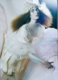 Olga Sherer in 'A Magic World' shot by Tim Walker for Vogue Italia January 2008