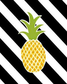 adorable free pineapple print