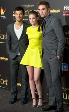 TAYLOR LAUTNER, KRISTEN STEWART & ROBERT PATTINSON  The Breaking Dawn crew look dynamite at the premiere in Madrid.
