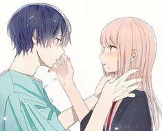 Anime Couples Drawings, Anime Couples Manga, Manga Anime, Manga Couple, Anime Love Couple, Image Triste, Look Wallpaper, Romantic Anime Couples, Cute Anime Coupes