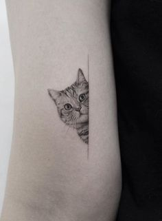 50 Best Ever Animal Tattoo Designs - Page 24 of 50 - Lily Fashion Style Cute Cat Tattoo, Kawaii Tattoo, Cute Tattoos, Unique Tattoos, Girl Tattoos, Wolf Tattoos, Chest Tattoos For Women, Chest Piece Tattoos, Tattoos For Women Small