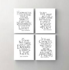 ★ Set of 4 - Dumbledore quote prints SimpleSerene takes pride in our unique, hand-lettered work. Each lettered design is carefully drawn by hand