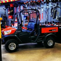 A new Kubota RTV on display.
