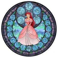 Ariel's Stained Glass Window a la Kingdom Hearts