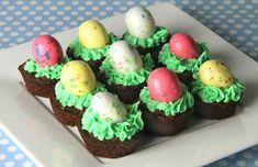 Easter Egg Brownie Bites
