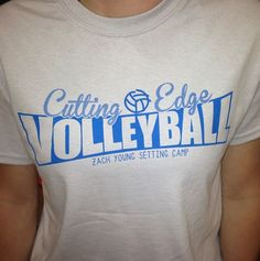 Cutting Edge Volleyball Camp Shirt // #freelance #apparel #design #sydesigns //