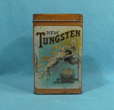 New Tungsten - Cigar Tin - FLOWING WOMAN WITH LIGHT BULB - Ohio