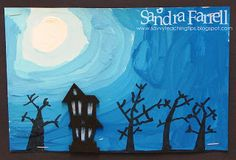 sandra's savvy teaching tips: Haunted Silhouettes