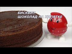 """Бисквит """"Шоколад на кипятке"""" для торта - кулинарный рецепт"""