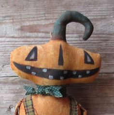 Extreme Primitive doll  Jacques o' Lantern by PeppercornPrimitives