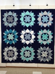 Swoon quilt in navy :-)