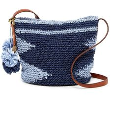 Lucky Brand Cabo Straw Crossbody ($40) ❤ liked on Polyvore featuring bags, handbags, shoulder bags, fatbl, blue crossbody, crossbody handbags, straw shoulder bag, faux-leather handbags and crossbody shoulder bags