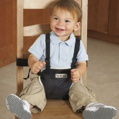 Why use the germy highchairs at a restaurant when this can be thrown in a diaper bag.