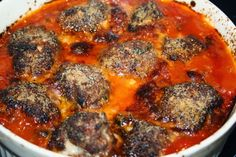 Italian Meatballs, Food And Drink, Pork, Beef, Ethnic Recipes, Pork Roulade, Meat, Pigs, Ox