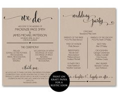 A Checklist How To Word Your Wedding Programs Wedding Help Tips - Wedding invitation templates: wedding program template word