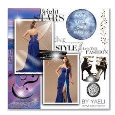 Pinsel Zug Kaiser Blau Abendkleid by johnnymuller on Polyvore featuring Stuart Weitzman and Pier 1 Imports