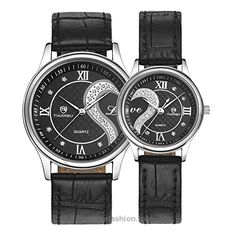 """Fq-102 Ultrathin Leather Romantic Crystals Pair Fashionable Wrist Watches for Couples Man Woman Black Set of 2 Pcs BUY NOW     $45.99     IN THE NAME OF LOVE.    This his-and-hers watches placed together, a rhinestones heart and a letter """"love"""" appear. Specially designed for couples,male and female 100% Genuine brand, special and elegant appearance,t .."""