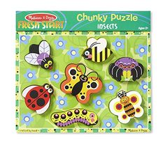 Melissa & Doug Insects Wooden Chunky Puzzle pcs): This wooden puzzle features a glorious garden full of colorful bugs! The chunky wooden pieces slot easily into their recessed spots, or stand upright for pretend play. Baby Toys Sale, Christmas Baby, Christmas Gifts, Melissa & Doug, Wishes For Baby, Bugs And Insects, Wooden Puzzles, Imaginative Play, Pretend Play
