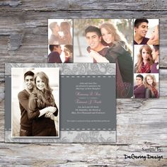 Classic Wedding Announcement by degeringdesign on Etsy, $12.00