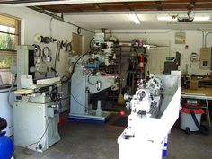 An Amazing Machine Shop In A Basement Home Shops