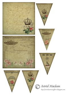 Free Vintage Paris Background and Banners Printables ~ Astrid's Artistic Efforts