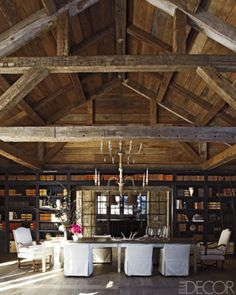 dining room 32. EXACTLY WHAT I WANT SECTIONS OF THE HOME TO BE MODELED AFTER. ESPECIALLY THE AREA ABOVE THE GARAGE. BARN RUSTIC