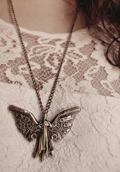 Tessa's clockwork angel necklace from The Infernal Devices