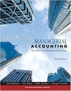 Fundamental accounting principles 22nd edition solutions manual by test bank for financial managerial accounting 15th edition by williams jan haka fandeluxe Images