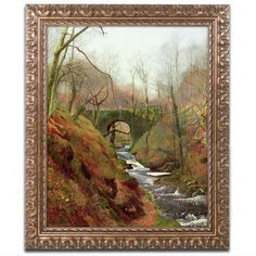 "Trademark Art 'March Morning' by John Grimshaw Framed Painting Print Size: 20"" H x 16"" W x 0.5"" D"