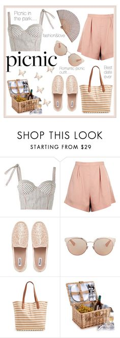 """""""Romantic picnic outfit"""" by puljarevic ❤ liked on Polyvore featuring Rosie Assoulin, Finders Keepers, Dune, Christian Dior, BP., Ross-Simons and picnic"""
