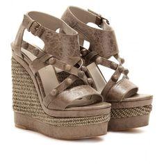 Balenciaga Rope Detailed Studded Leather Wedge Sandals. Why do these have to cost $935?!