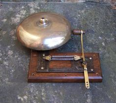 Vintage antique wall boxing ring side fighting bell
