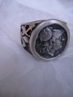 Roman Coin Sterling Silver Ring by NauticalFeeling on Etsy, $179.00
