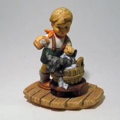 Berta Hummel Goebel A Good Scrubbing Figurine 1999 Collectible