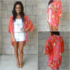 Like this floral wrap or kimono